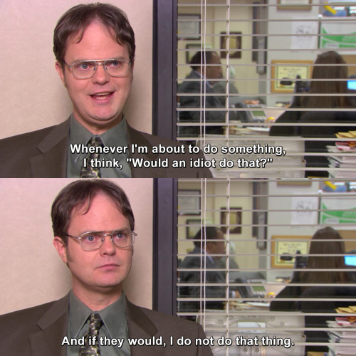 The Office - Would an idiot do that?