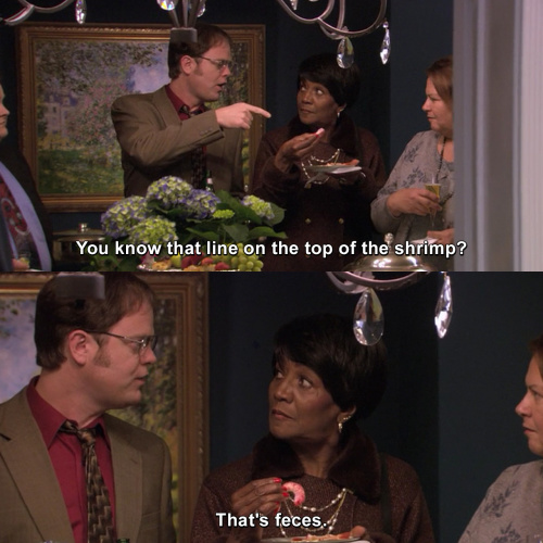 The Office - Dwight has impeccable timing.