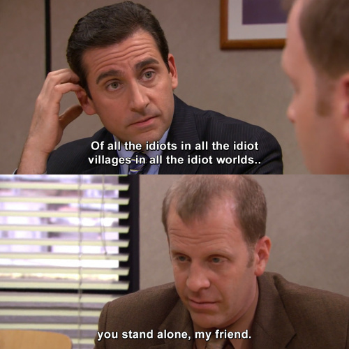 The Office - Of all the idiots in all the idiot villages