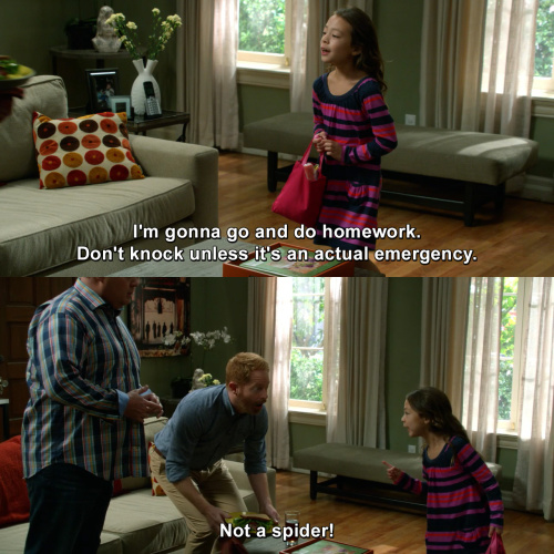 Modern Family - Don't knock unless it's an emergency.