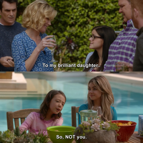 Modern Family - To my brilliant daughter
