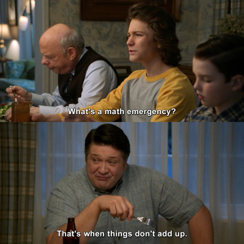 Young Sheldon - Dad jokes for the win.