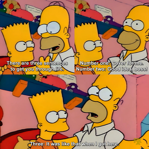 The Simpsons - I know I've gotten through life saying those phrases.