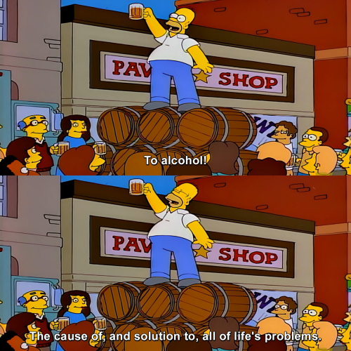 The Simpsons - To alcohol!