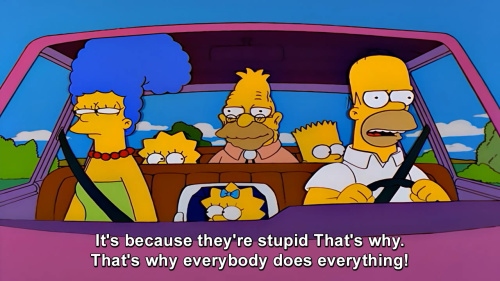 The Simpsons - Homer on people