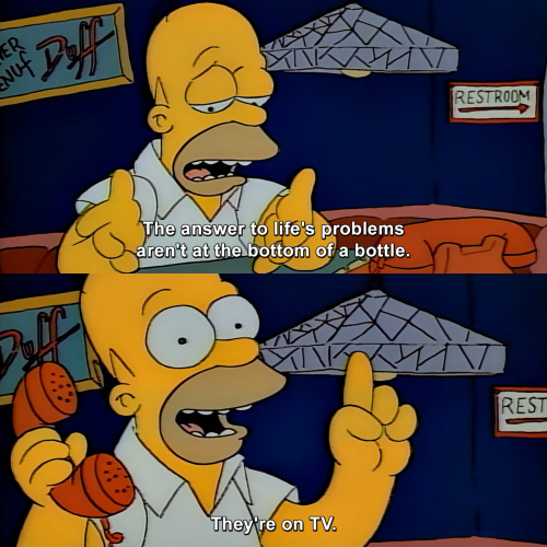 The Simpsons - The answer to life's problems