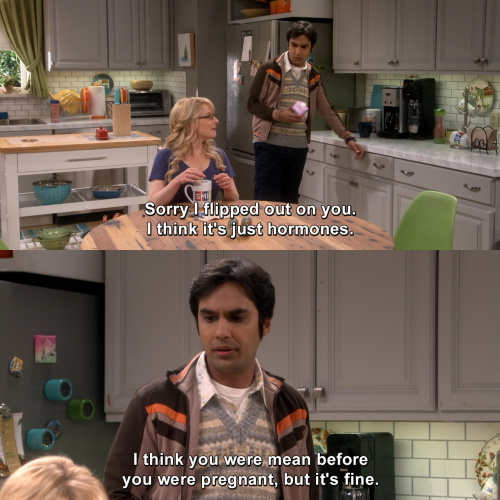 The Big Bang Theory - Sorry I flipped out on you.