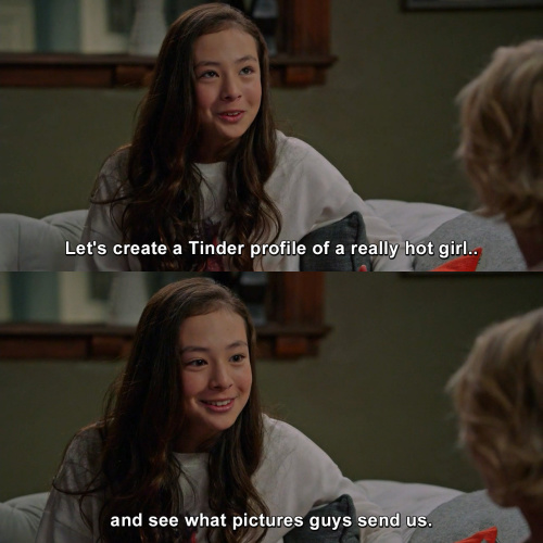 Modern Family - Lily on Tinder