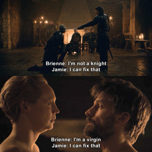 Game of Thrones - I'm not a knight.