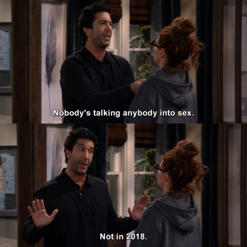Will and Grace - Nobody's talking anybody into sex.