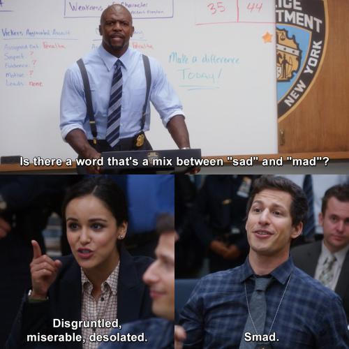 Brooklyn Nine-Nine - Is there a word that's a mix between
