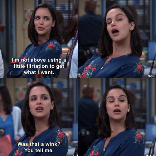 Brooklyn Nine-Nine - I'm not above using a little flirtation to get what I want.