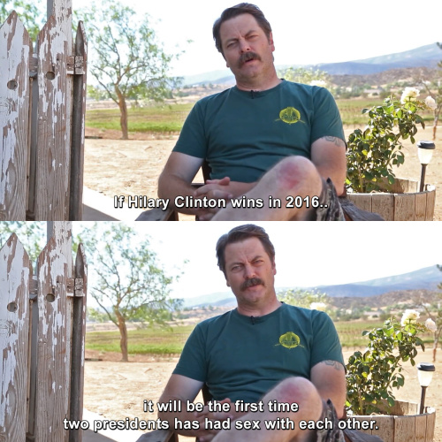 Parks and Recreation - If Hilary Clinton wins in 2016