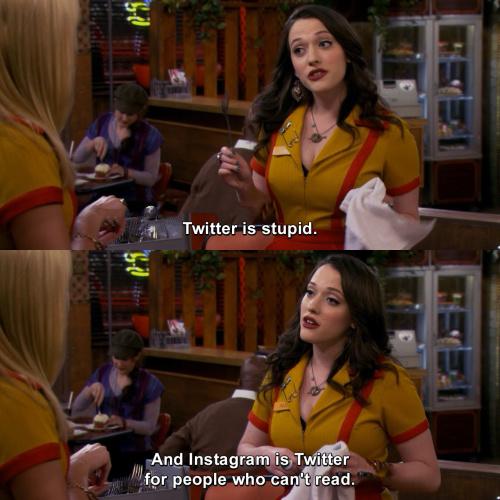 2 Broke Girls - Twitter is stupid.