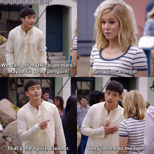 The Good Place - We can get mythical animals?