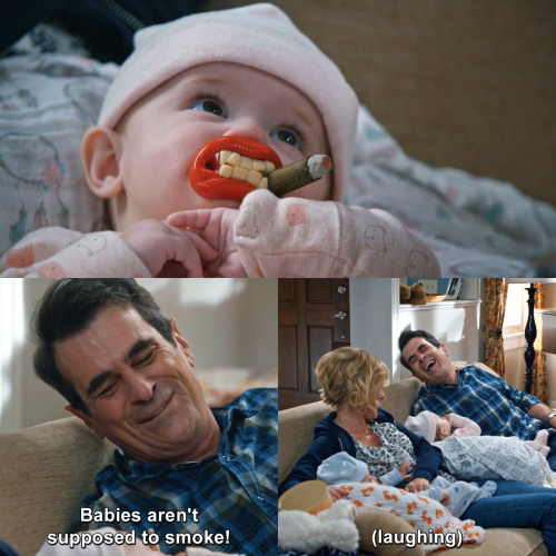 Modern Family - Babies aren't supposed to smoke!
