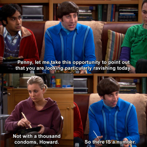 The Big Bang Theory - You are looking particularly ravishing today