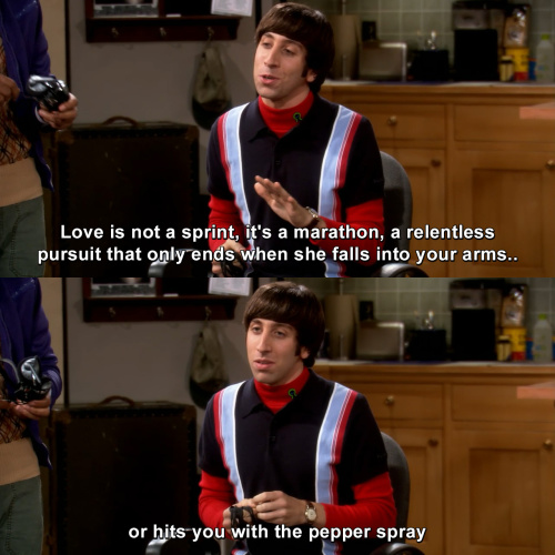The Big Bang Theory - Love is not a sprint, it's a marathon