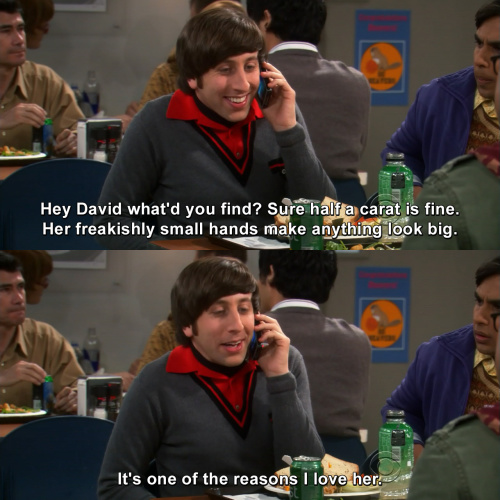 The Big Bang Theory - Sure half a carat is fine