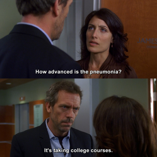 House MD - How advanced is the pneumonia?