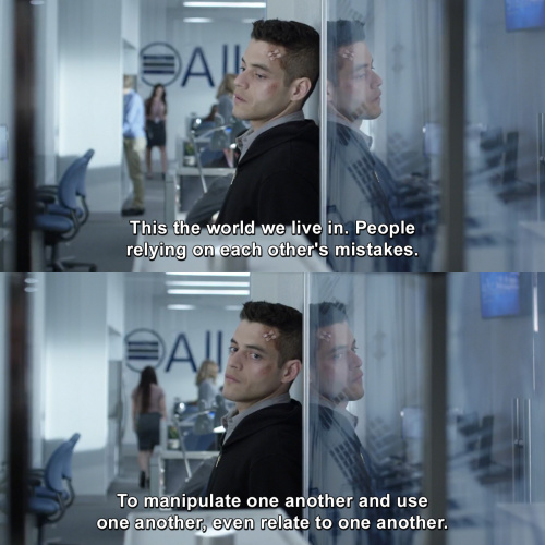 Mr Robot - This the world we live in